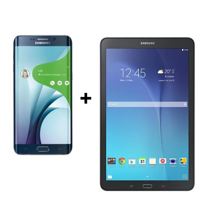"Smartphone 5.7"" Samsung Galaxy S6 Edge+ + Tablette 9.6"" Samsung Galaxy Tab E"
