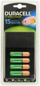 Chargeur Duracell Ultra Rapide 15 minutes + 2 piles AA
