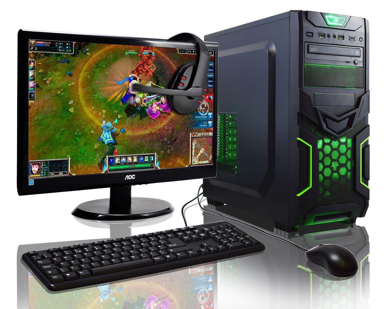 """Pack PC de bureau Admi : (A8-7650K, 8 Go RAM, 1 To HDD)  + écran 22"""" full HD  + (Clavier, souris et micro-casque)"""