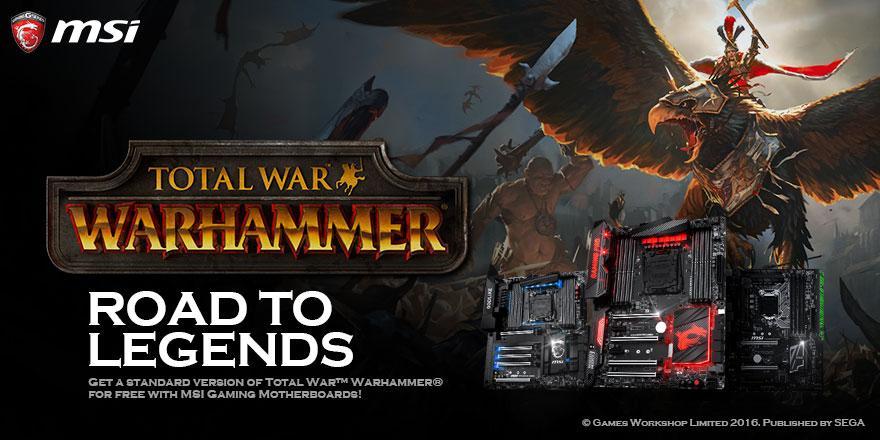 [Possesseur de MSI X99, Z170, H170, B150 Gaming Series] Total War: Warhammer gratuit sur PC (Dématérialisé - Steam)