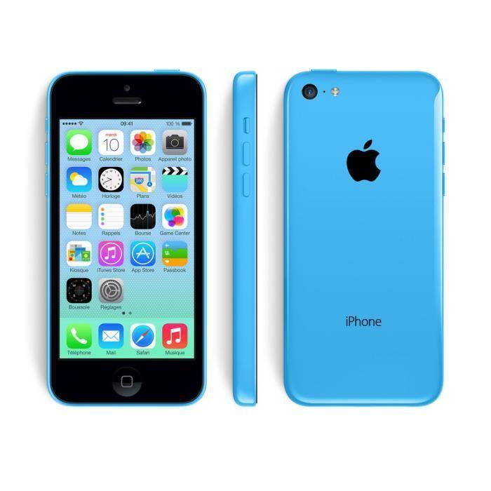 Smartphone Apple iPhone 5C 8Go - Reconditionné (sans chargeur et boite neutre) coloris au choix