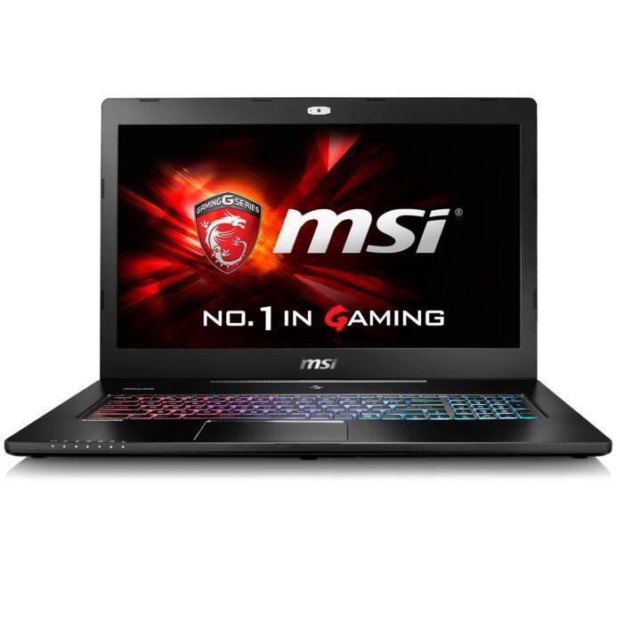 "PC  17.3"" Full HD Portable Gamer MSI  - GS72 6QE-287XFR (i7, 8 Go Ram 1 To HDD + 128Go SSD, GTX 970M, Sans OS)"