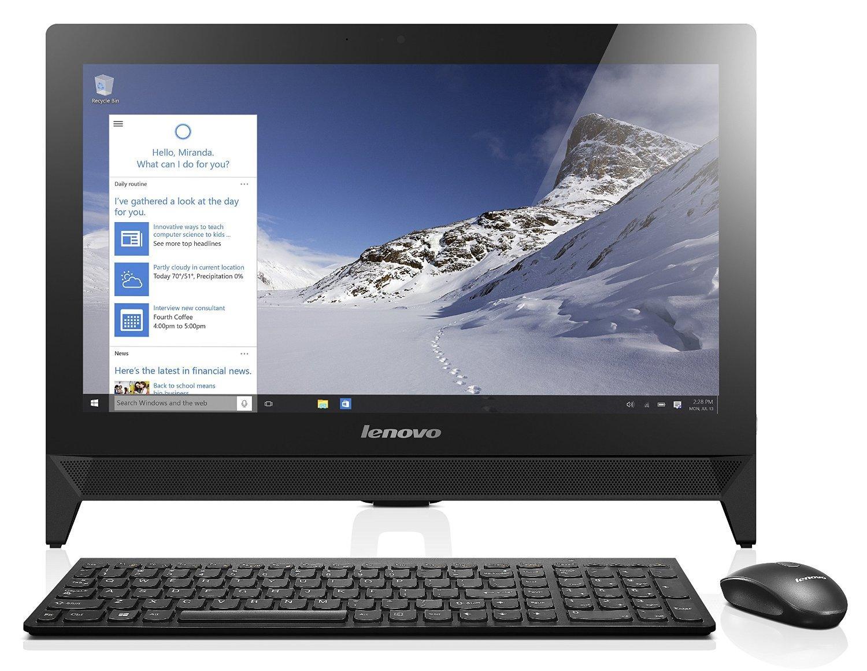 """[Premium] PC tout-en-un 19.5"""" full HD Lenovo C20 (N3050, 4 Go de RAM, 500 Go)"""