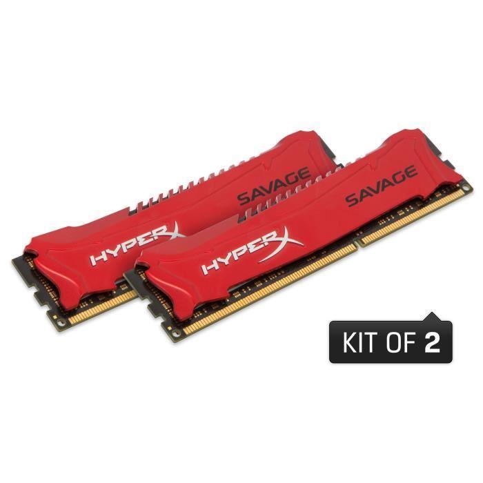 Kit de RAM Kingston Hyper X Savage DDR3-1866 CL9 - 8 Go (2x4)