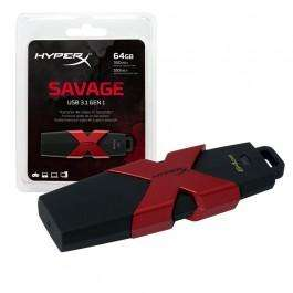 Clé USB 3.1 Kingston HyperX Savage - 64 Go (350 Mo/s - 180 Mo/s)