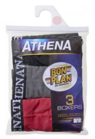 Lot de 3 Boxers Athena - Différents coloris