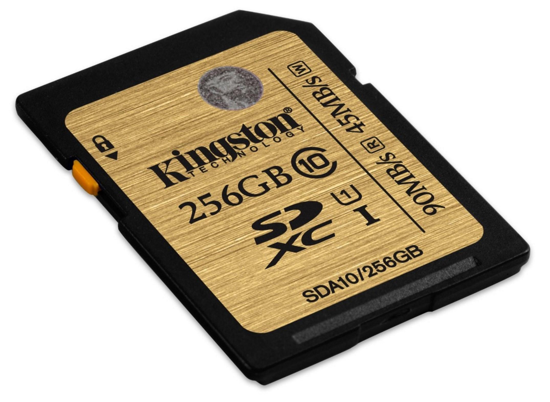 Carte SDXC Kingston Ultimate UHS I Classe 10 - 256 Go
