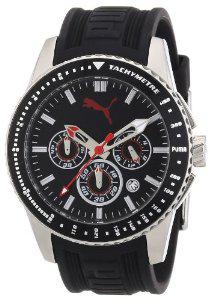 Montre Homme Chronographe Puma Time Race A.PU102311003 - Bracelet Résine Noir