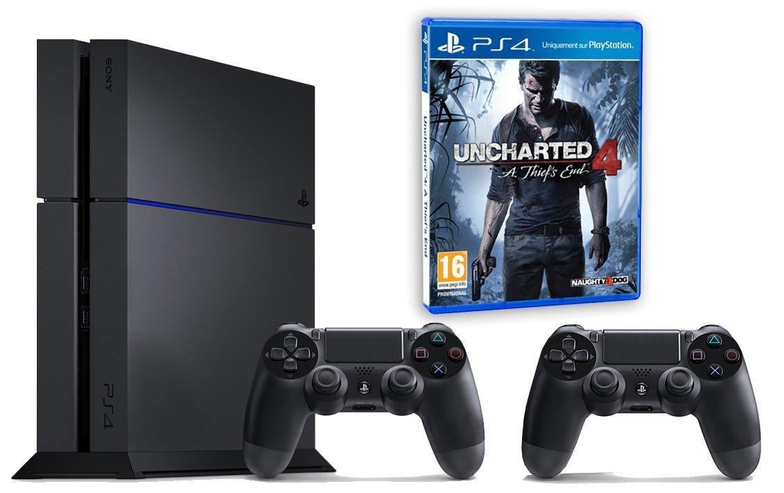[Premium] Sélection de packs PS4 500go (Chassis C) + Uncharted 4 et manette supplémentaire