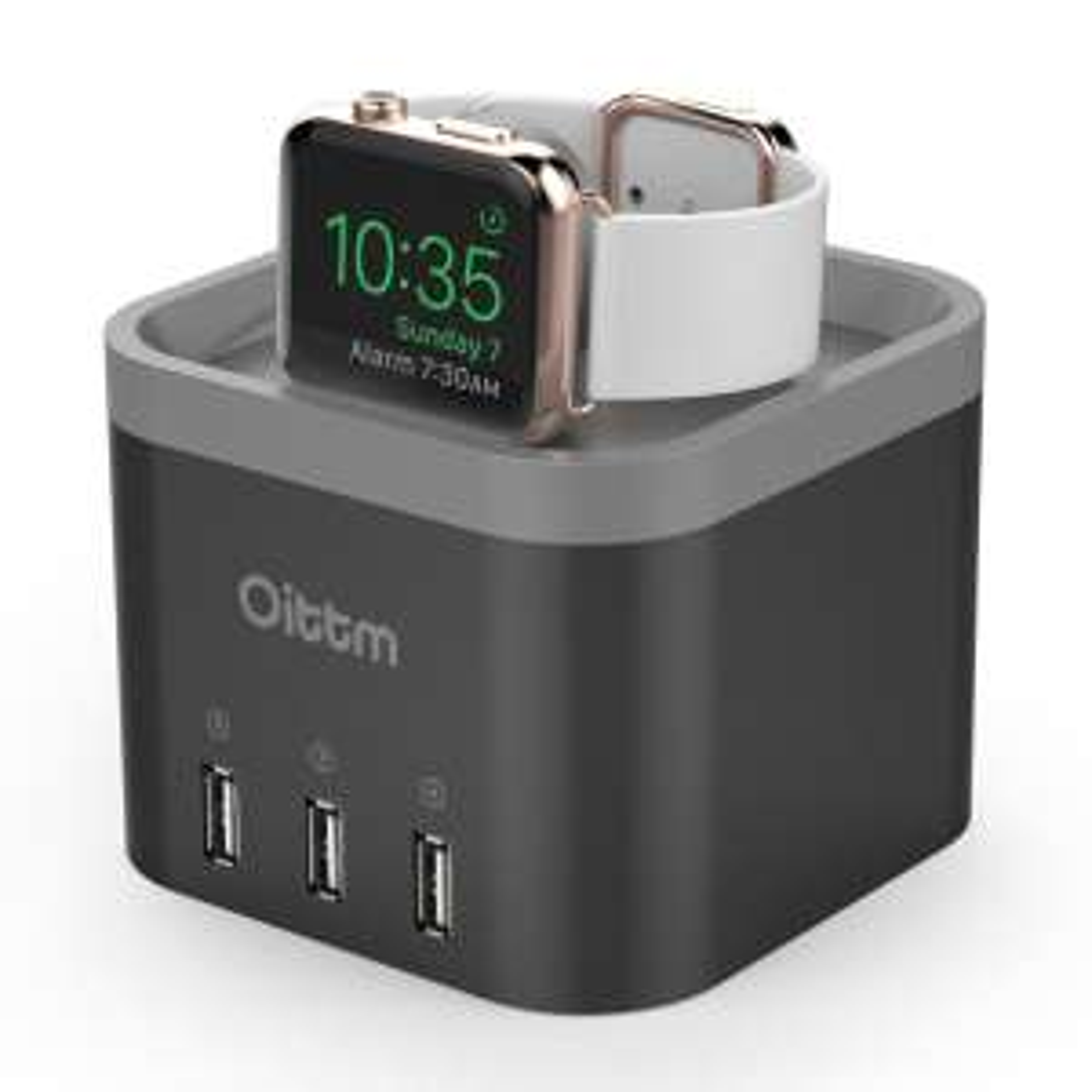 [Premium] Support de recharge Oittm pour montre Apple Watch avec 3 ports USB