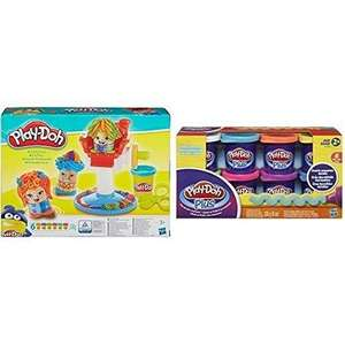 [Premium] Pâte à modeler Play Doh Le Coiffeur + 8 Pots Plus (recharges)