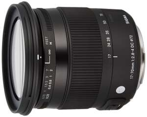 Objectif photo Sigma 17-70 mm F2,8-4 DC Macro OS HSM Contemporary pour Canon