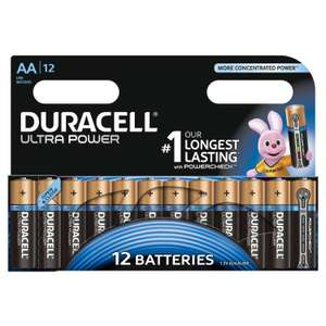 [Premium] lot de 12 Piles Duracell - Alcaline Ultra Power - AA