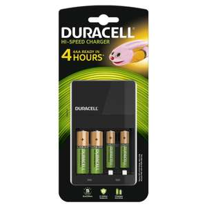[Premium] Duracell Chargeur 4 Heures Kit Démarrage + 2x AA 2x AAA