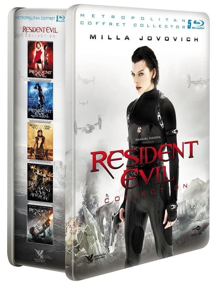 [Premium] Coffret Blu-ray 5 Films Resident Evil Collection - Édition Limitée Métal