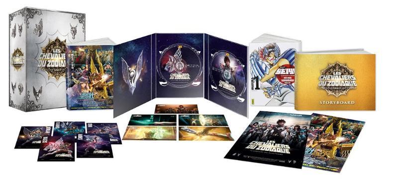 Coffret du Film Les Chevaliers du Zodiaque : La légende du Sanctuaire Édition Collector Limitée (Blu-ray + DVD + Livre + Manga + Affiche + Litho)