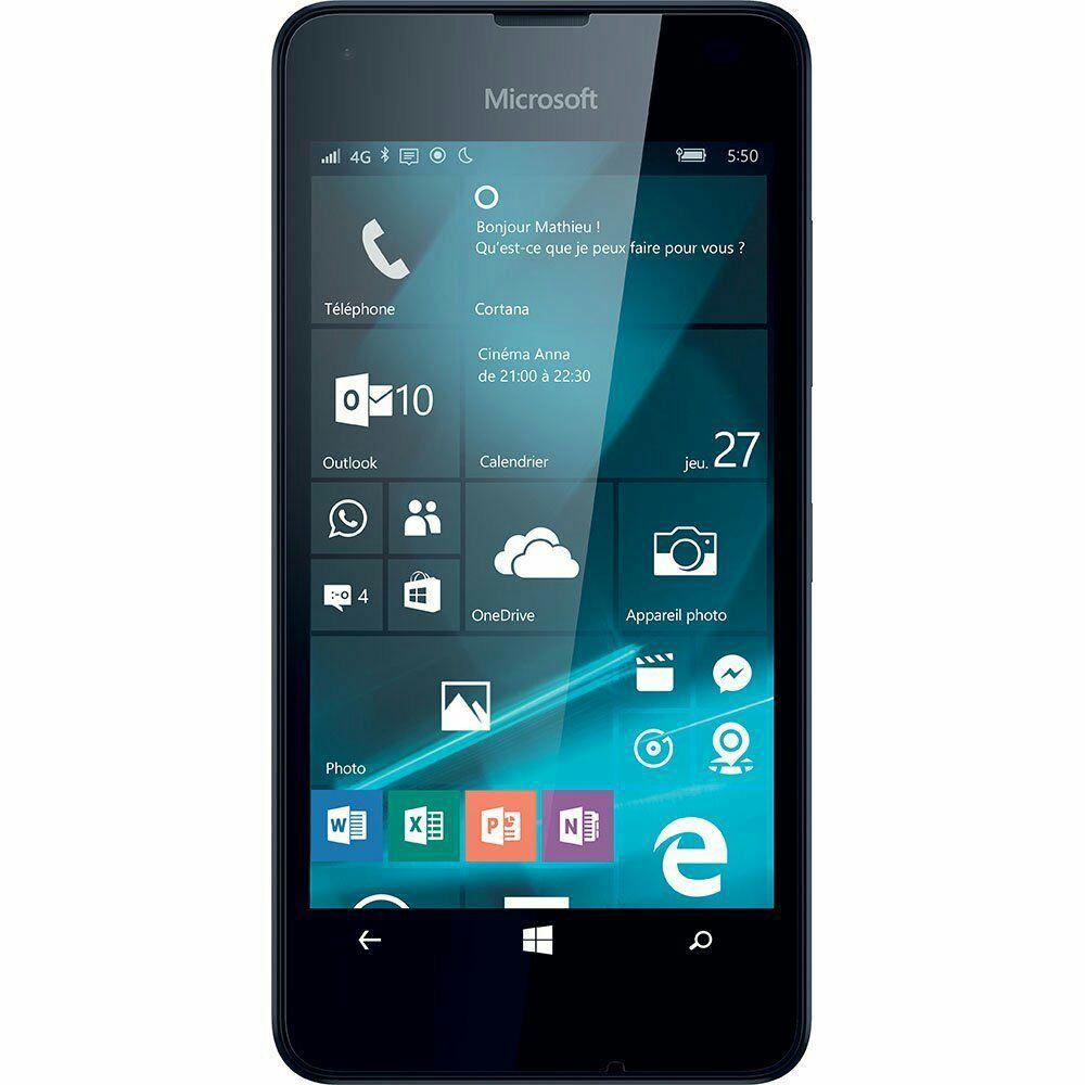 """Smartphone 4.7"""" Microsoft Lumia 550 - Noir (Avec ODR de 30€)"""