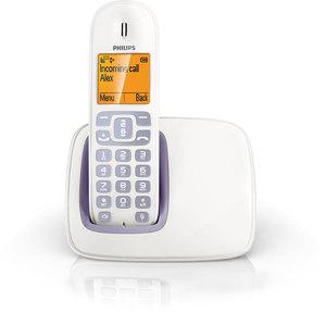 Téléphone DECT sans fil Philips CD2901 Blanc/lila