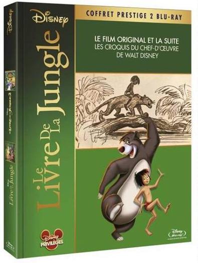 Coffret Blu-ray : Le livre de la jungle 1 & 2