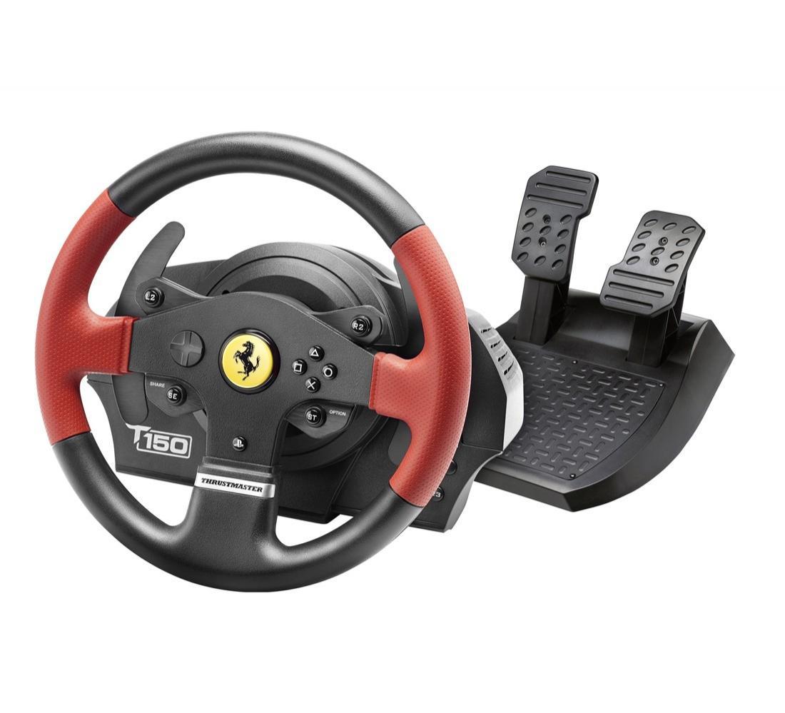 Volant pédalier Thrustmaster T150 Ferrari pour PS4 et PS3