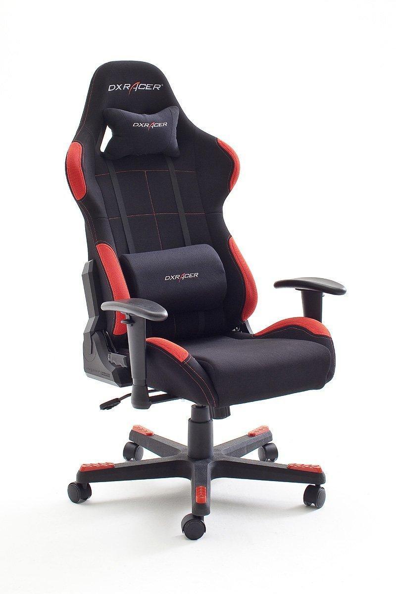 [Premium] Fauteuil en nylon Robas Lund DX Racer1 62501SR8 avec accoudoirs Noir/rouge