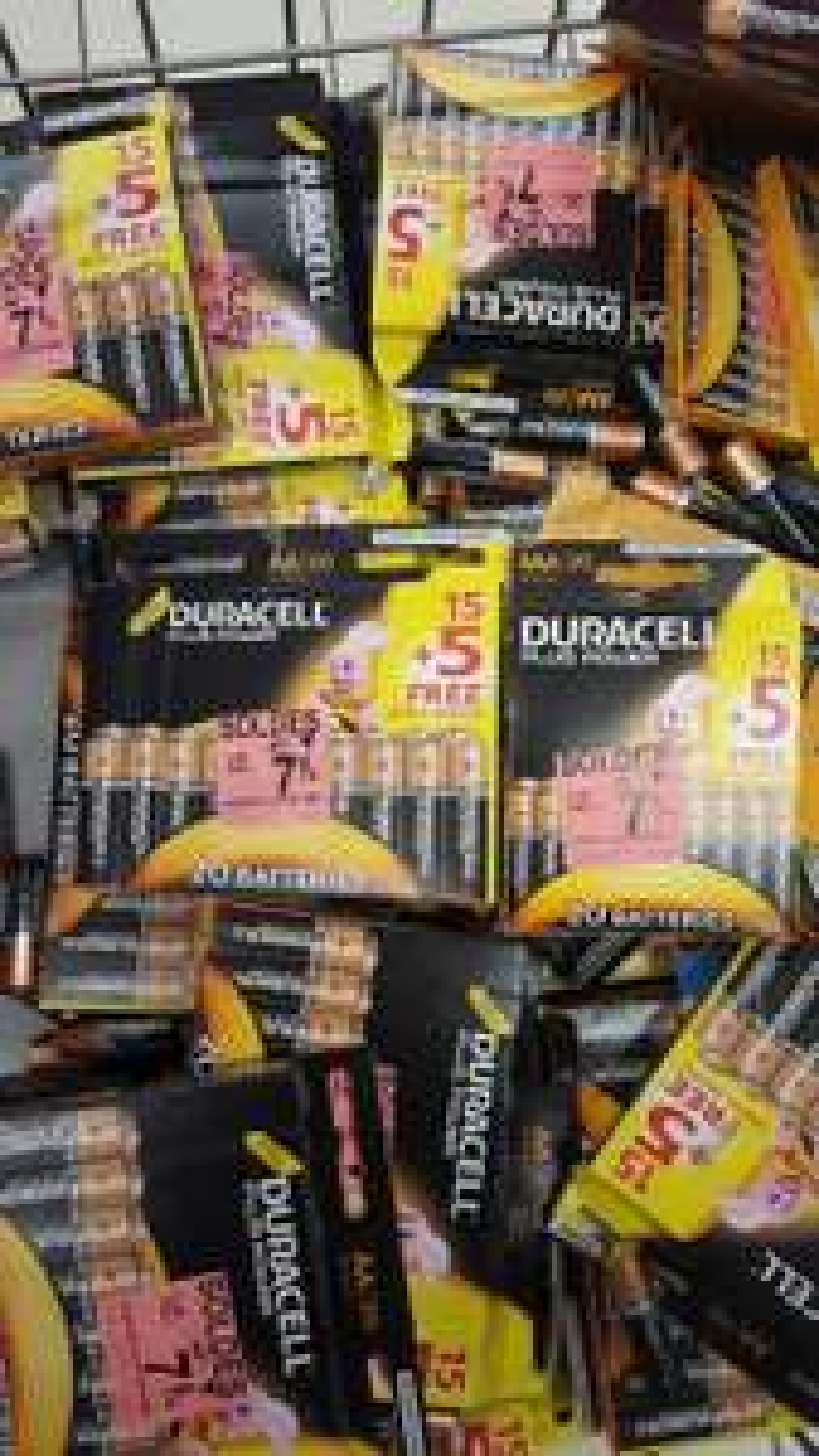 Lot de 20 piles Duracell Plus Power AAA ou AA