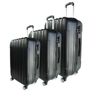 Set de 3 Valises Rigide ABS 8 Roues - 57-66-76cm, Noir