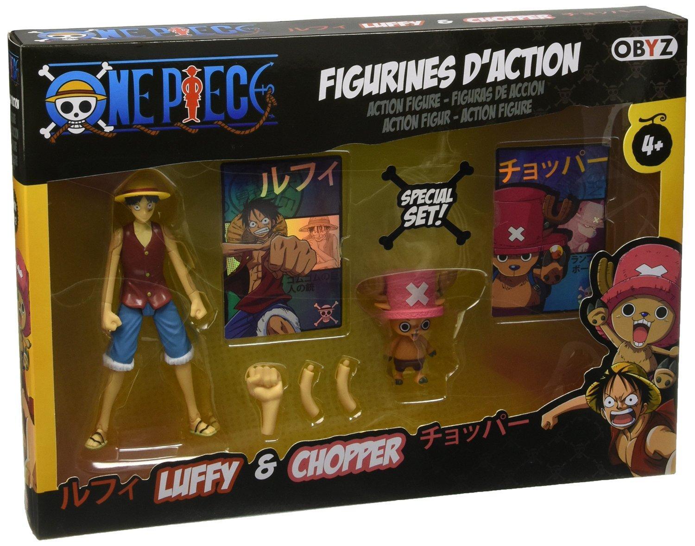 Pack de 2 figurines One Piece Luffy et Chopper 12 cm