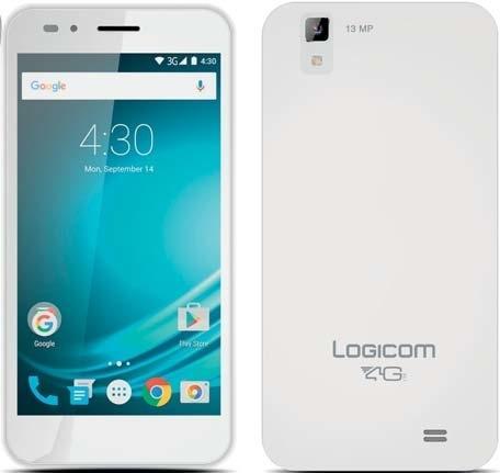 Smartphone 5'' Logicom L-ite 500 Noir - 4G Blanc