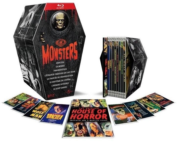 Coffret Blu-ray Universal Monsters - 8 Films  Edition Limitée
