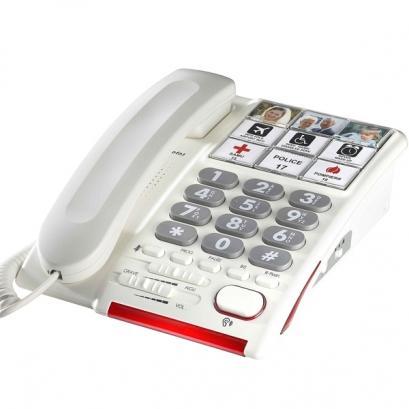 Téléphone fixe pour personnes âgées - grosses touches + touches photos Depaepe HD Max Photos