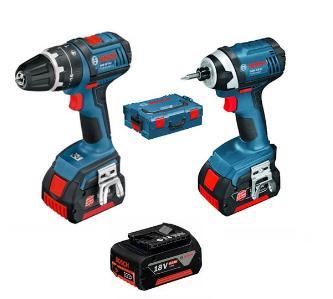 Perceuse Visseuse Bosch  GSR 18 V-LI + Visseuse à chocs Bosch  GDR 0615990GF9