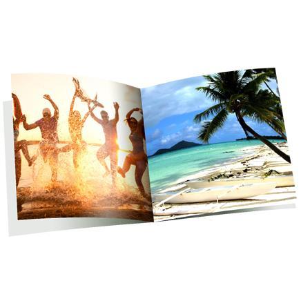 Livret photo agrafé de 12 pages (10 photos, 15x15 cm)