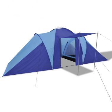 Tente de camping imperméable - 6 Personnes, Bleu marin/bleu