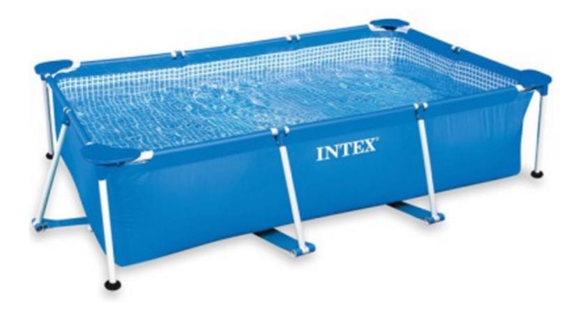 Piscine tubulaire rectangulaire Intex - 220x150x60cm