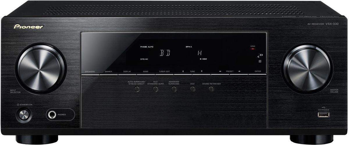 Ampli HC 5.1 Pioneer VSX-330 - 4K/60hz, HDCP 2.2, 3D, DAC, USB, ARC, CEC, DSD, Virtual Speakers