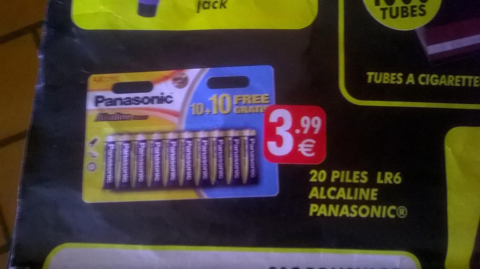 Sélection d'un large choix produits en promo Ex : Lot de 20 Piles AA LR6 Alcaline Panasonic