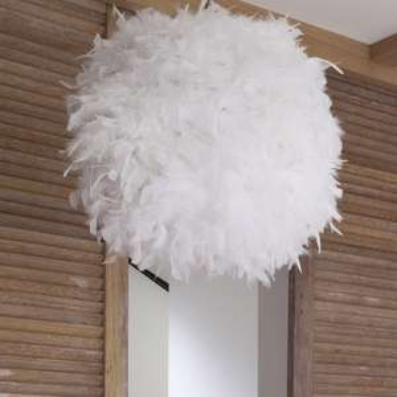 Suspension Kokot Plumes blanc 55cm Corep