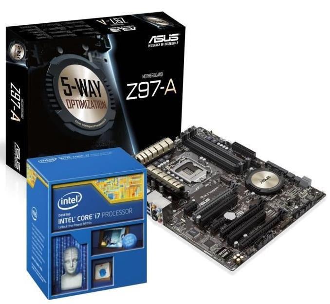 Kit Evo Intel i7-4790K Haswell Refresh + carte mère Asus Z97-A (via ODR 40€)