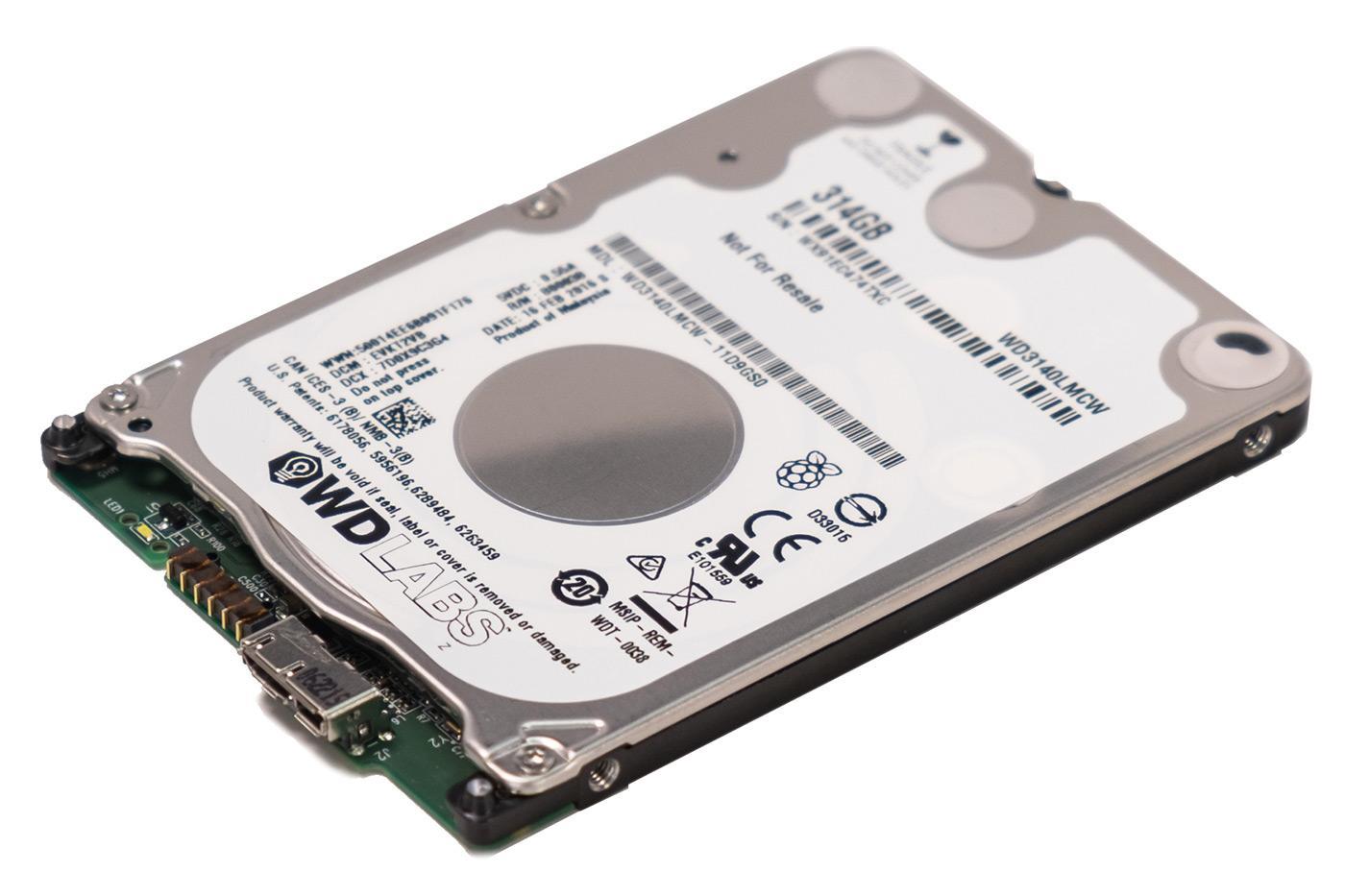 Disque dur WD PiDrive 314 Go pour Raspberry Pi