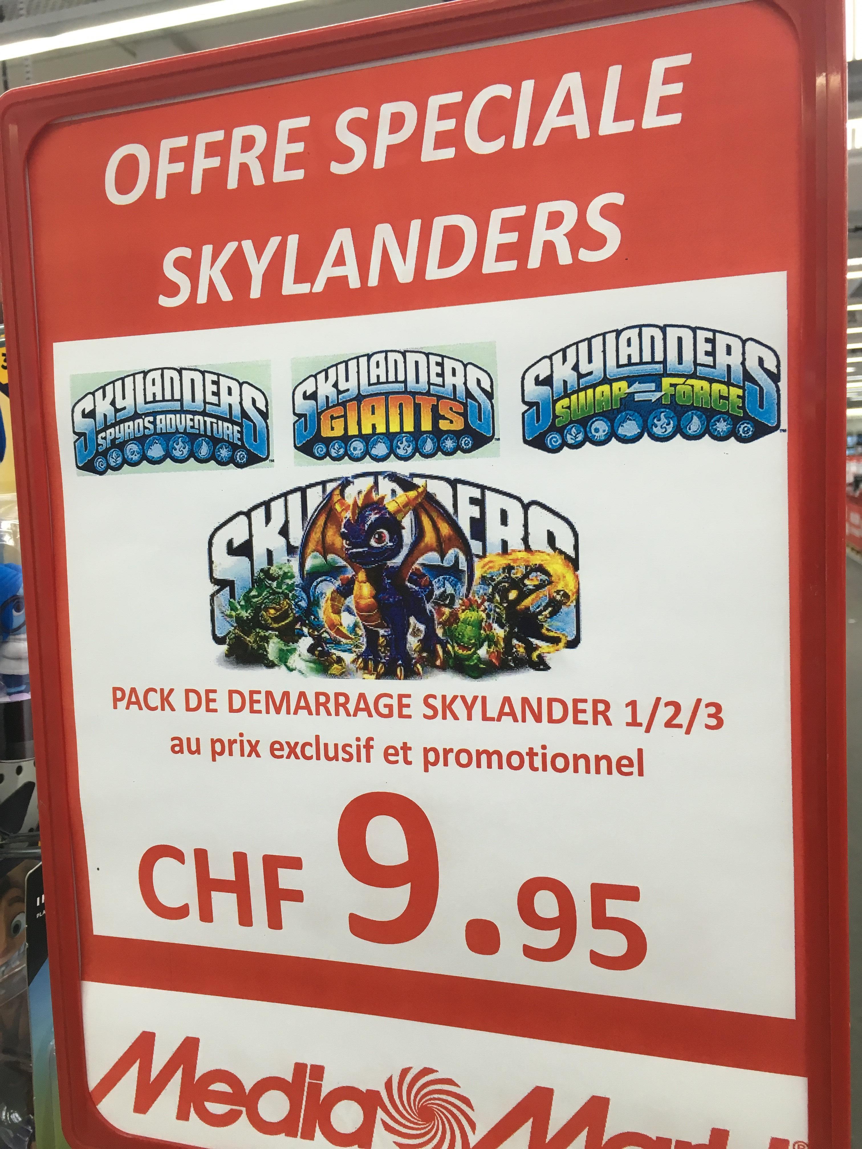 Pack de démarrage Skylanders Swap Force, Giants ou Spyro's Adventure sur PS4, Wii U et Wii