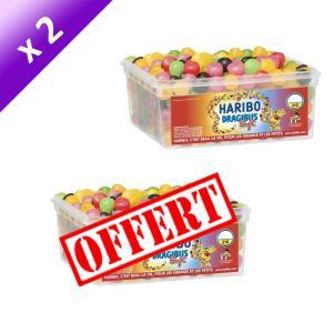Lot de 2 boites Haribo Dragibus Soft 210 pièces