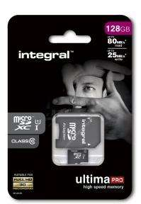 Carte microSDXC Integral UltimaPro classe 10 UHS-I U1 - 128 Go + adaptateur