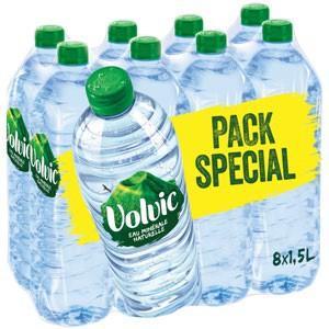 Lot de 4 Packs de 8 x 1,5 L d'eau Minérale Naturelle Volvic