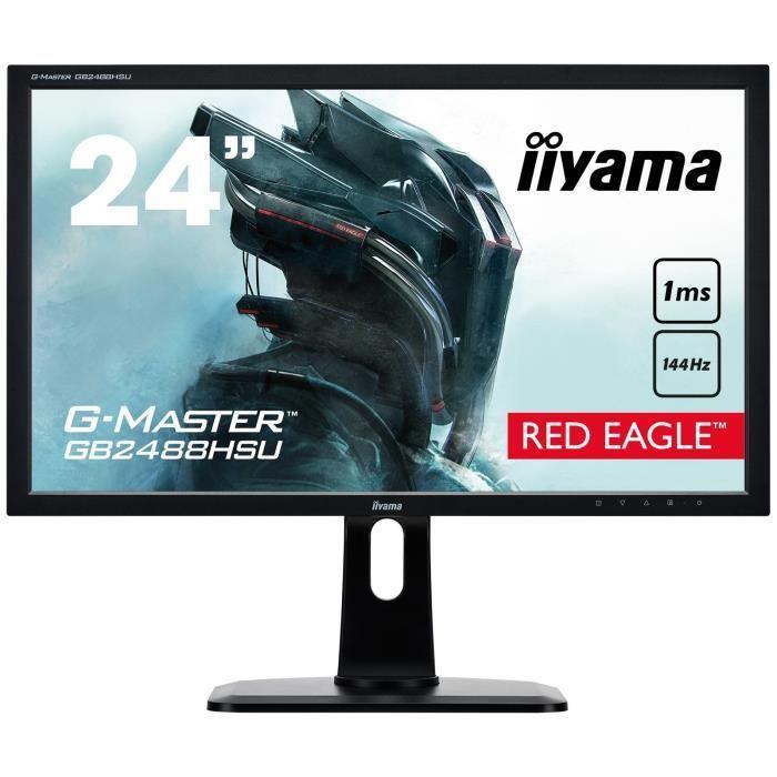 """Ecran PC 24"""" Iiyama G-Master GB2488HSU-B2 - FreeSync, Full HD? 1ms, 144 Hz"""