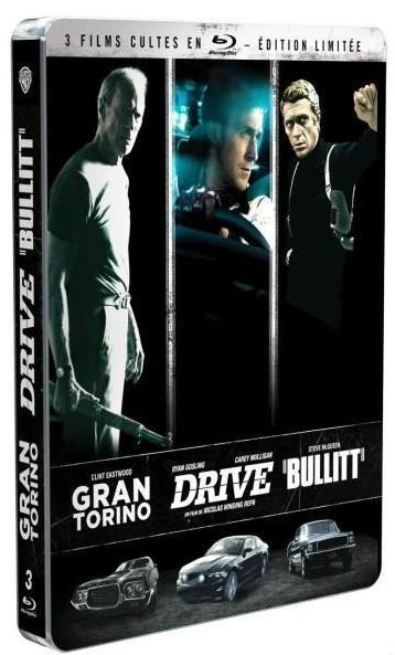 Coffret Blu-ray Gran Torino + Drive + Bullitt