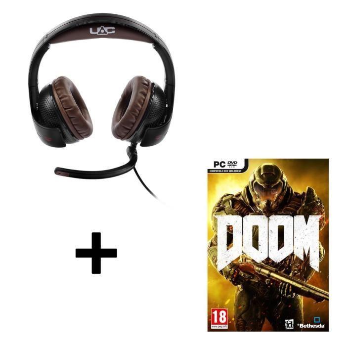 Casque gaming Thrustmaster Y-300CPX Doom Edition sur PS4 / PC / Xbox One + Doom sur PC