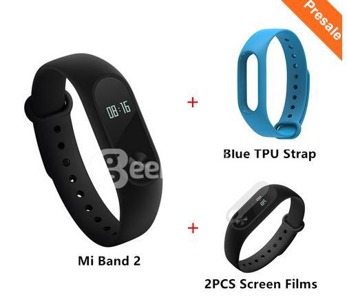 Précommande : Bracelet connecté Xiami Miband 2 + Bracelet de couleur à choisir + 2 films protecteurs