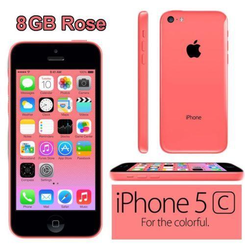 """Smartphone 4"""" Apple iPhone 5C 8Go - Coloris au choix, Reconditionné sans chargeur et boite neutre"""