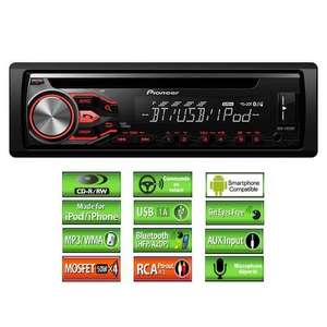 autoradio pioneer deh 4800bt ipod bluetooth usb. Black Bedroom Furniture Sets. Home Design Ideas